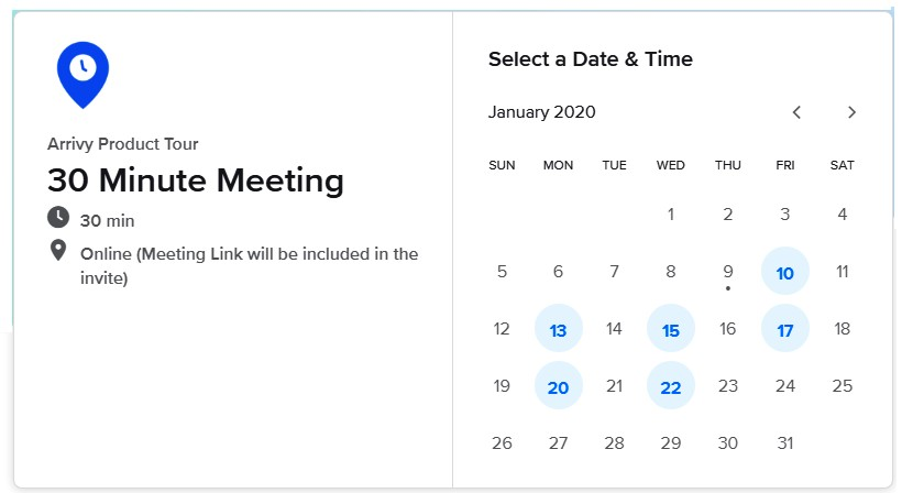 Calendly Scheduling Portal