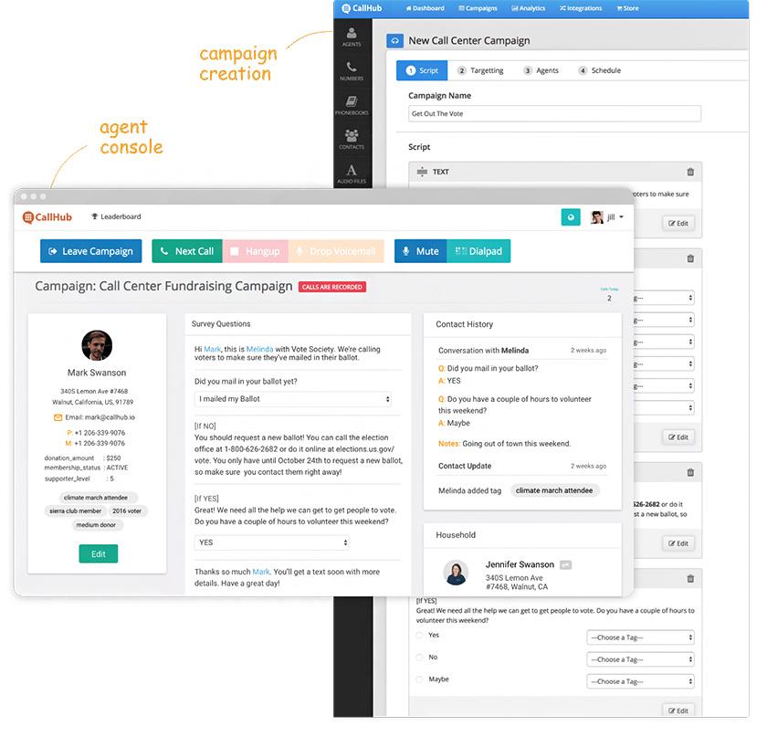 CallHub Call Center Software Interface