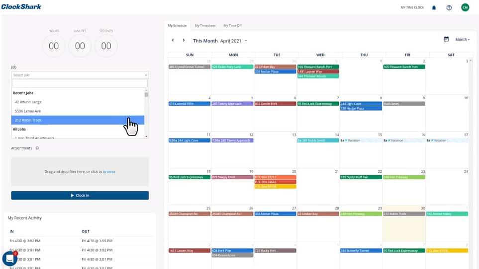 Screenshot of Web Time Tracker