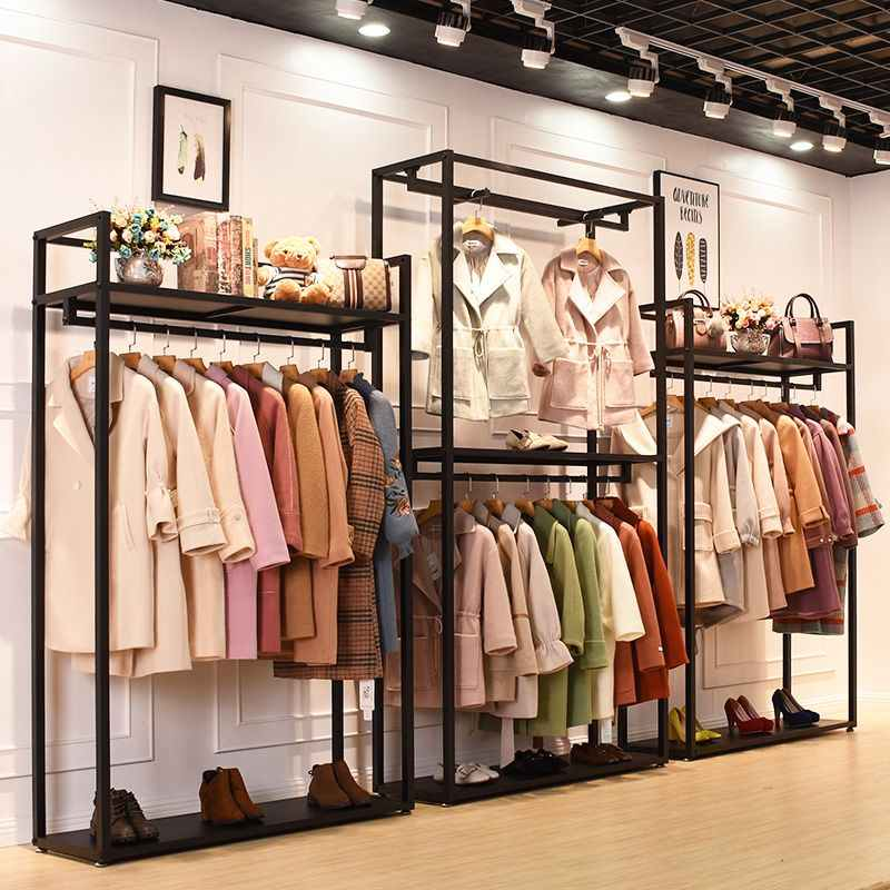 Clothing Garment Rack With Shelves