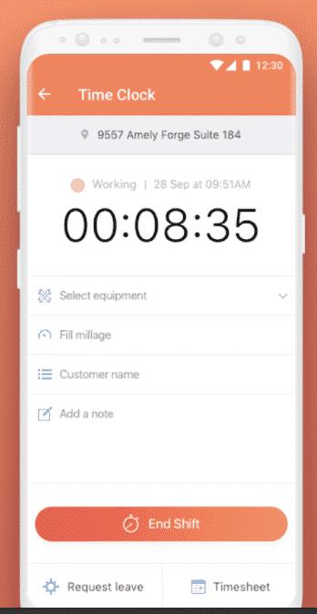 Screenshot of Connecteam app