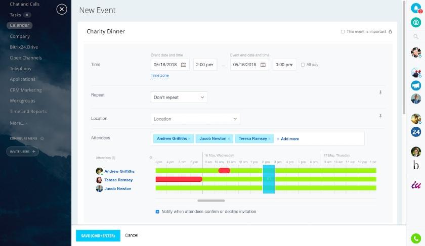 Create New Event in Bitrix24