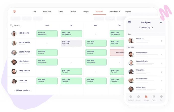 Deputy scheduling interface