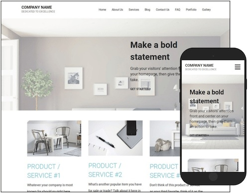 GoDaddy Real Estate Website Template example