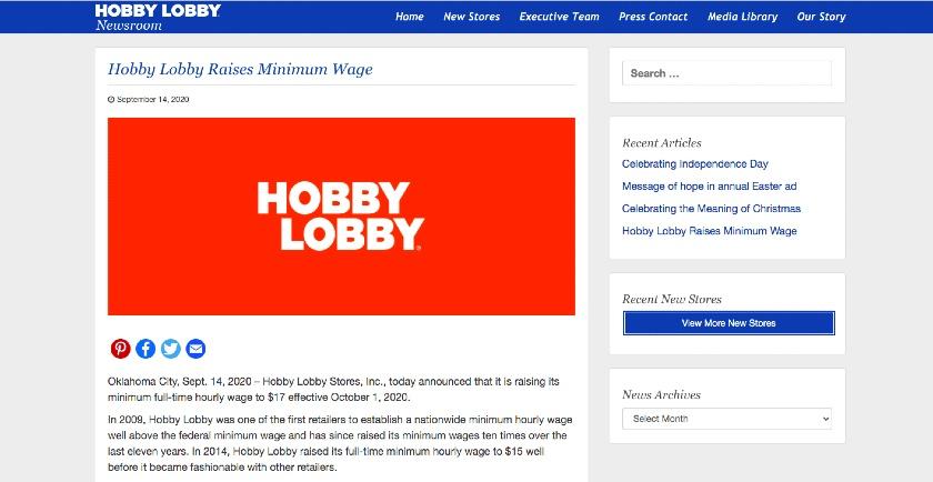 Hobby Lobby Newsroom