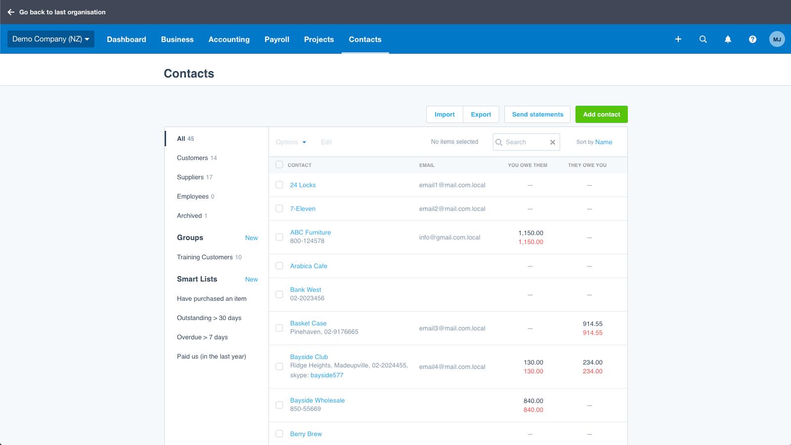 HubSpot's integration with Xero