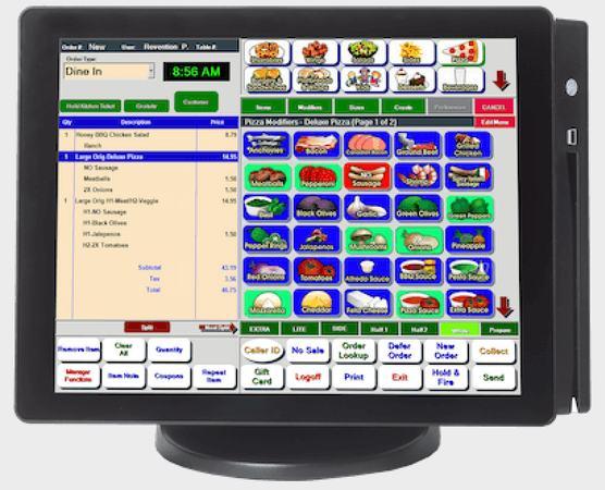 Screenshot of HungerRush POS screens