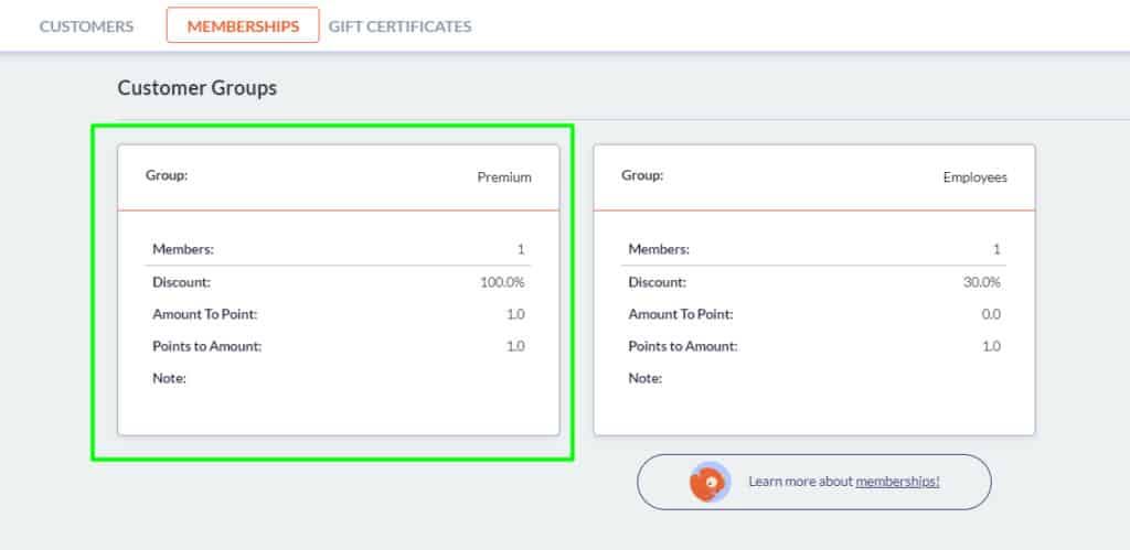 Screenshot of Imonggo loyalty programs