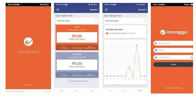 Screenshot of Imonggo sales app
