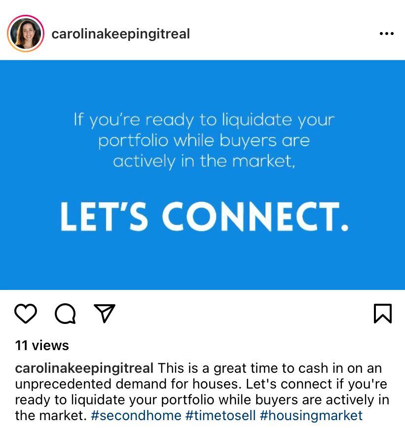 Instagram post from carolinakeepingitreal