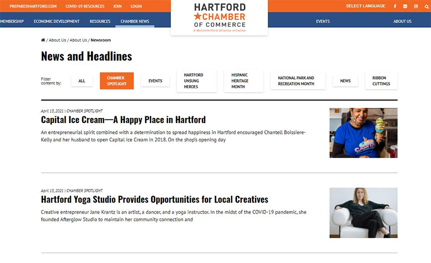 Local Chamber of Commerce News and Headlines
