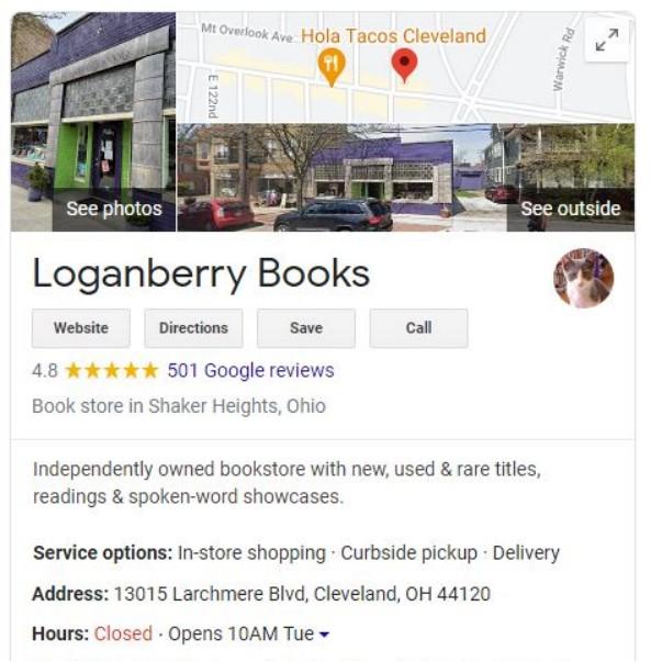Loganberry Books Google Business Profile
