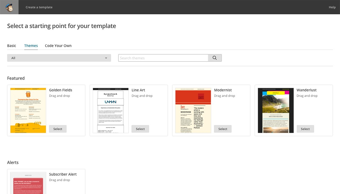 Mailchimp Email Template Page