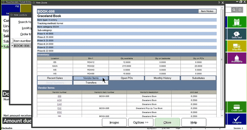 Screenshot of NCR POS categorizing and defining product