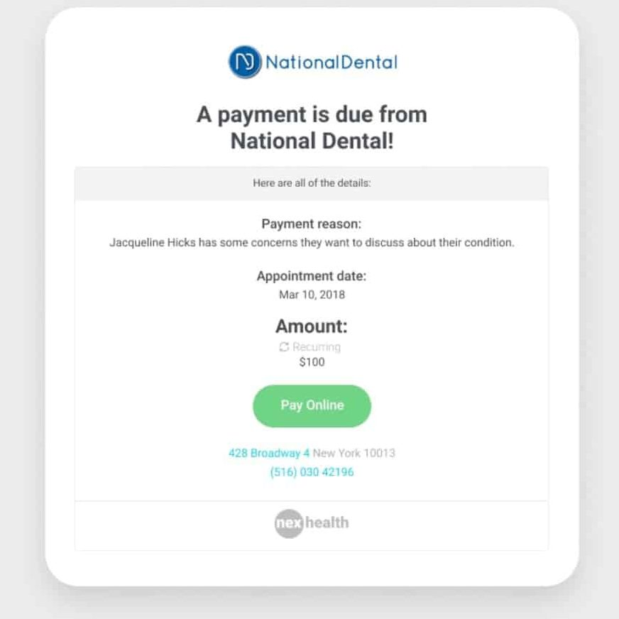 NexHealth Email Payment Invoice.