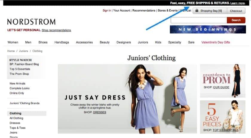 Nordstrom Online Store