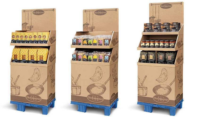 Screenshot of Pallet display for food products