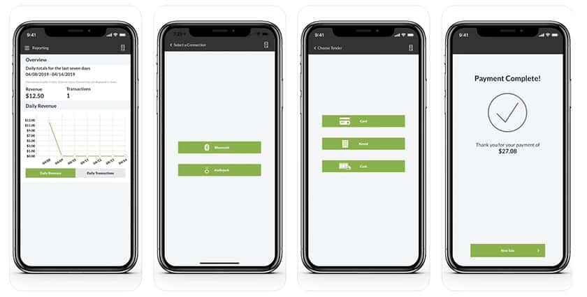 Screenshot of Payline data interface