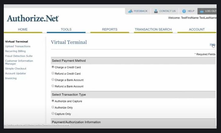 Payment Depot virtual terminal settings