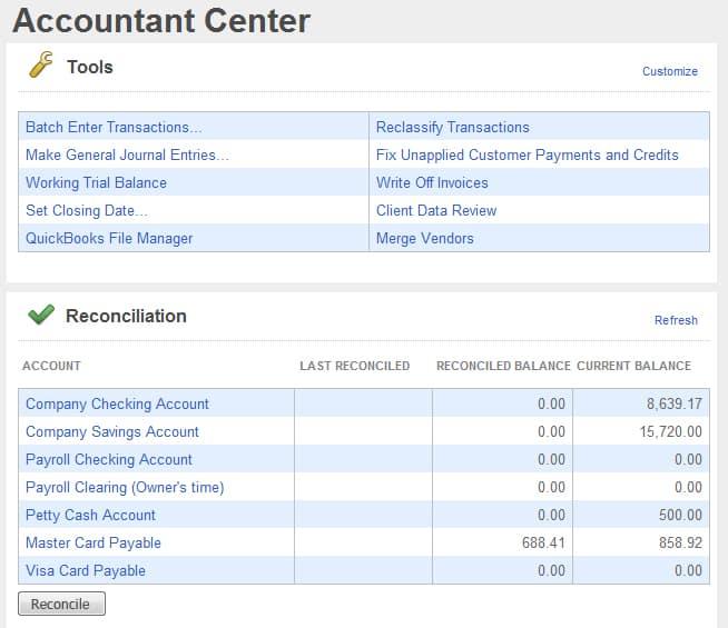 Screenshot of QuickBooks Accountant_Desktop Accountant Center