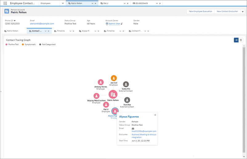 Salesforce Health Cloud Contact Tracing