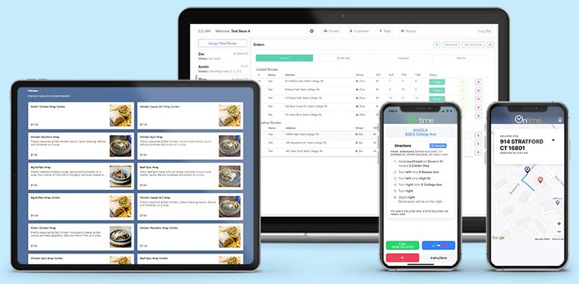 Screenshot of Square for Restaurants Ontime Delivery interface suite
