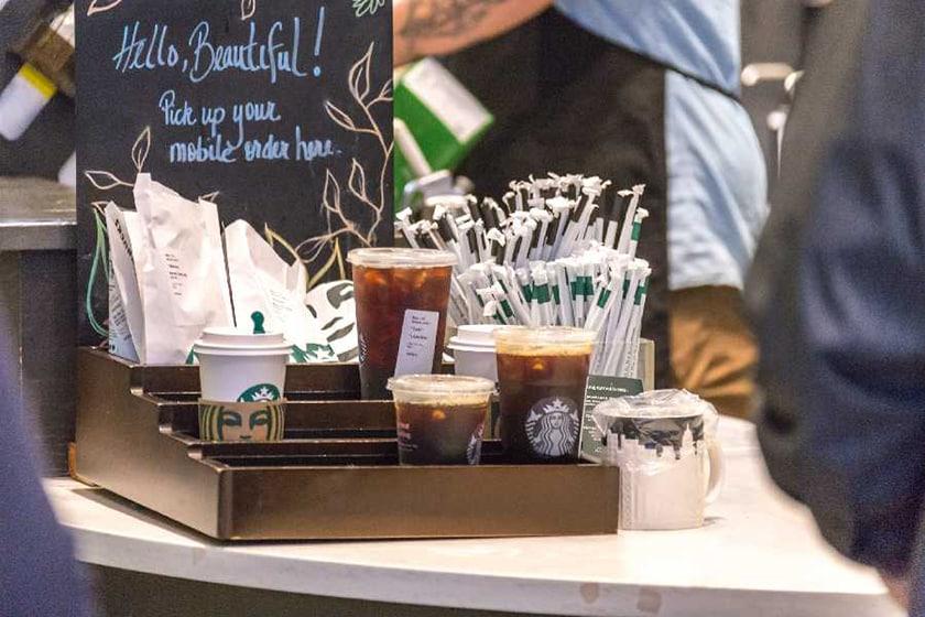 Screenshot of Starbucks orders