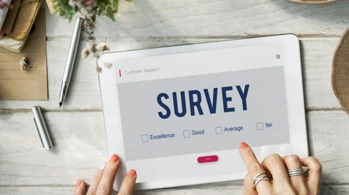 Survey on a tablet