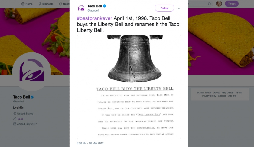 Taco Bell joked they bought the Liberty Bell