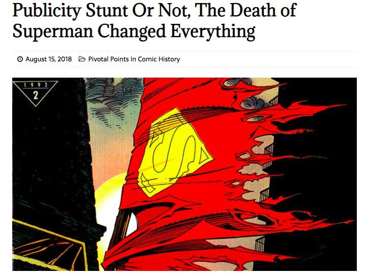 The Death of Superman DC comics