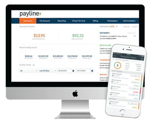 The Payline web and mobile app interface