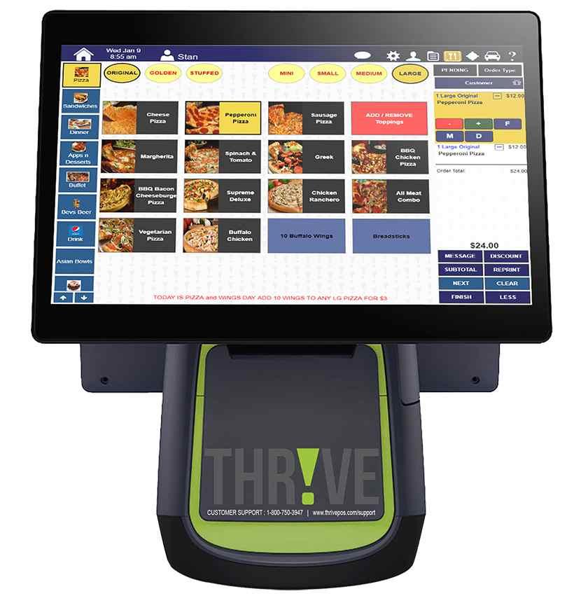 Screenshot of Thrive POS dashboard