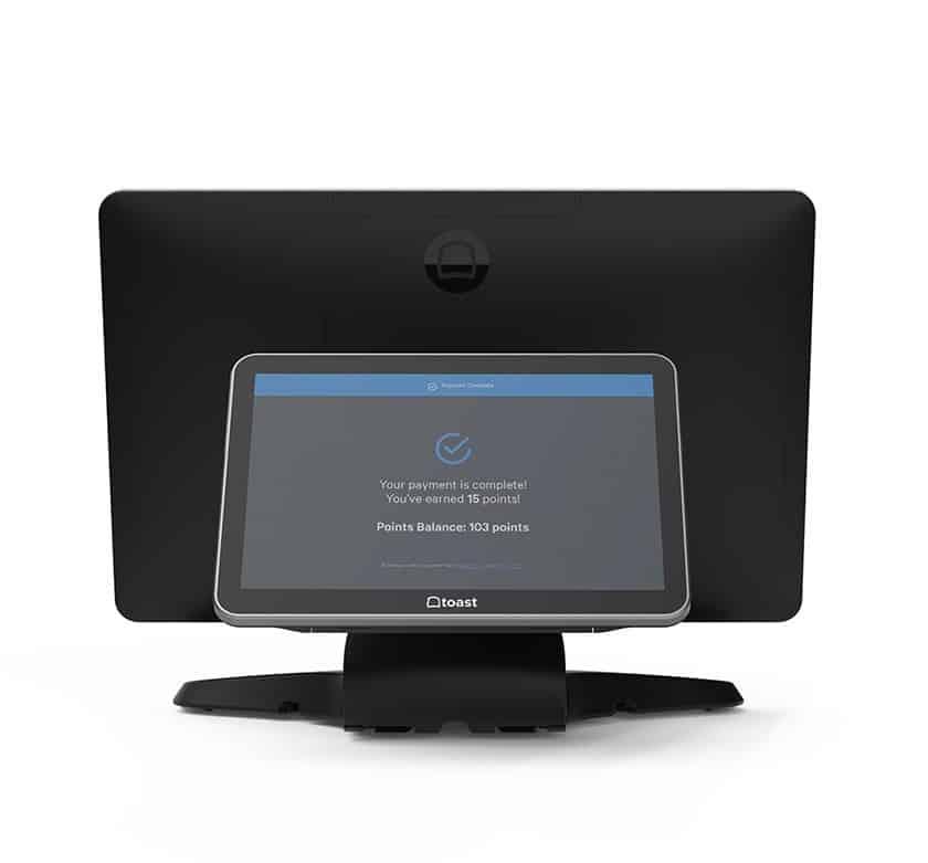 Screenshot of Toast ELO tablet with customer facing display