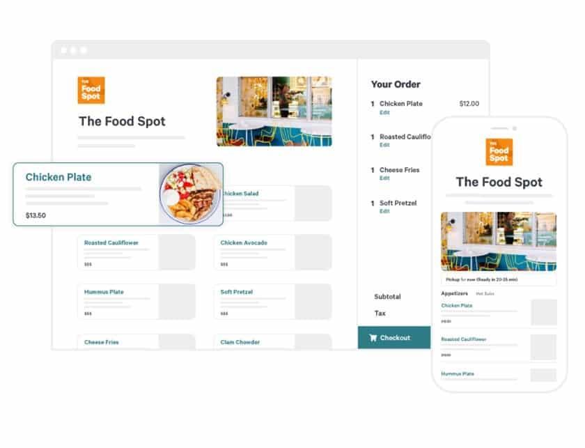 Screenshot of Toast online ordering sample
