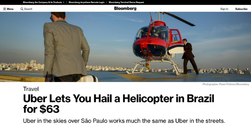 Uber helicopter rides