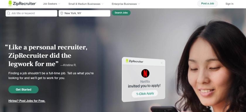 ZipRecruiter four-day free trial