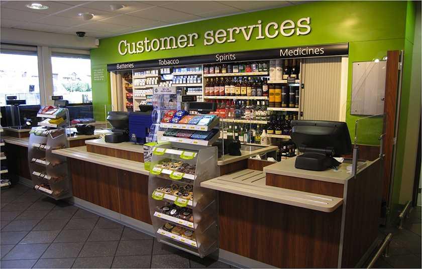 Screenshot of customer service counter