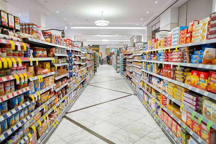 Screenshot of grocery store