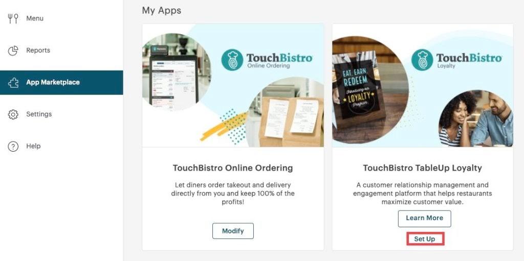 Screenshot of Adding a Customer Loyalty Program on Toast