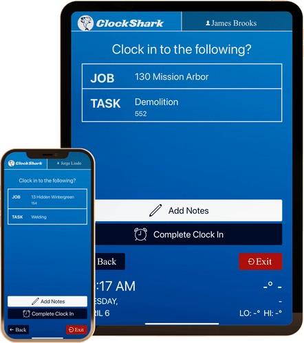 Screenshot of ClockShark KioskClock App