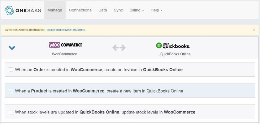 Screenshot of Configuring Workflows Between WooCommerce QuickBooks