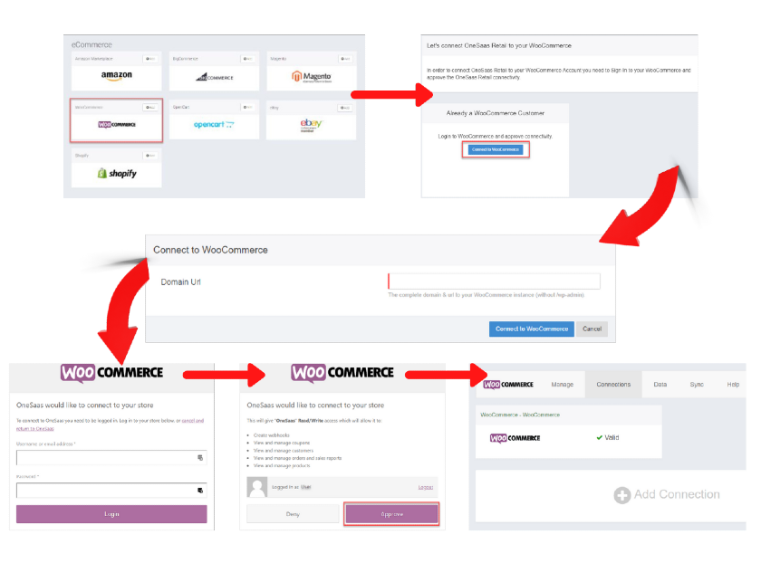 Connectinng WooCommerce