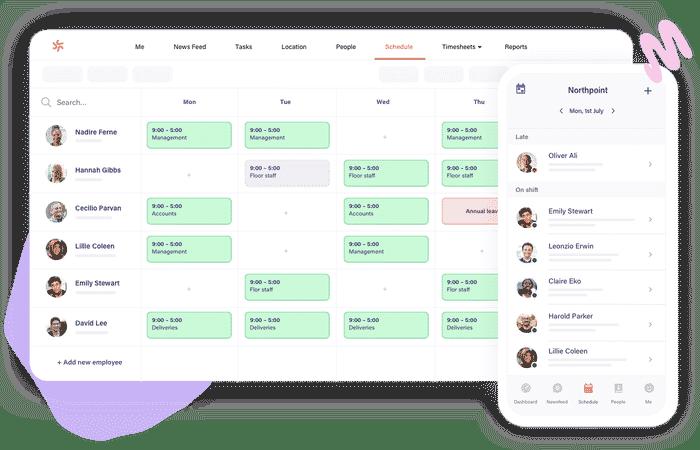Screenshot of Deputy Scheduling on Destop and Mobile