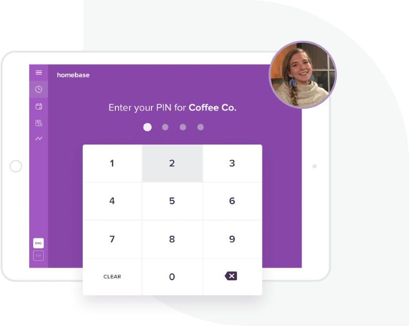 Screenshot of Entering Pin on Homebase
