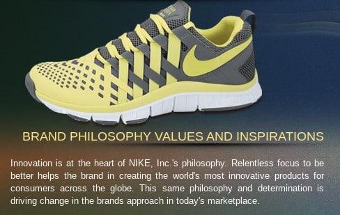 Screenshot of Nike Core Values