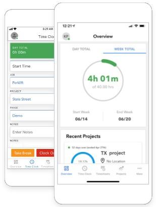 Screenshot of QuickBooks Time Mobile App