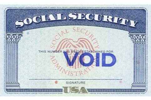 Screenshot of Social Security Card