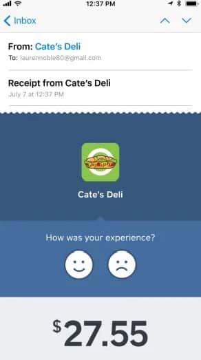 Screenshot of Square Customer Feedback