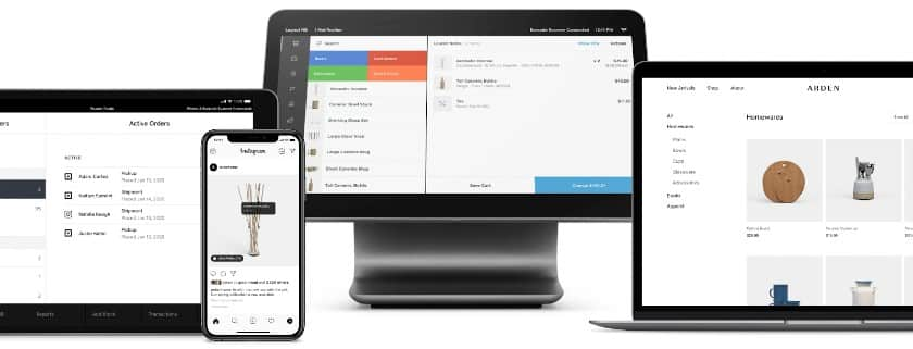 Screenshot of Square for Retail on Various Devices