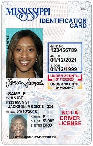 Screenshot of State-Issued Identification Card